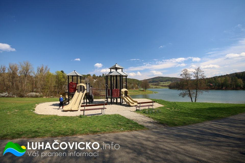 Luhačovická přehrada v dubnu 2020 (3)