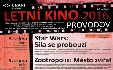 letní kino Provodov 2016