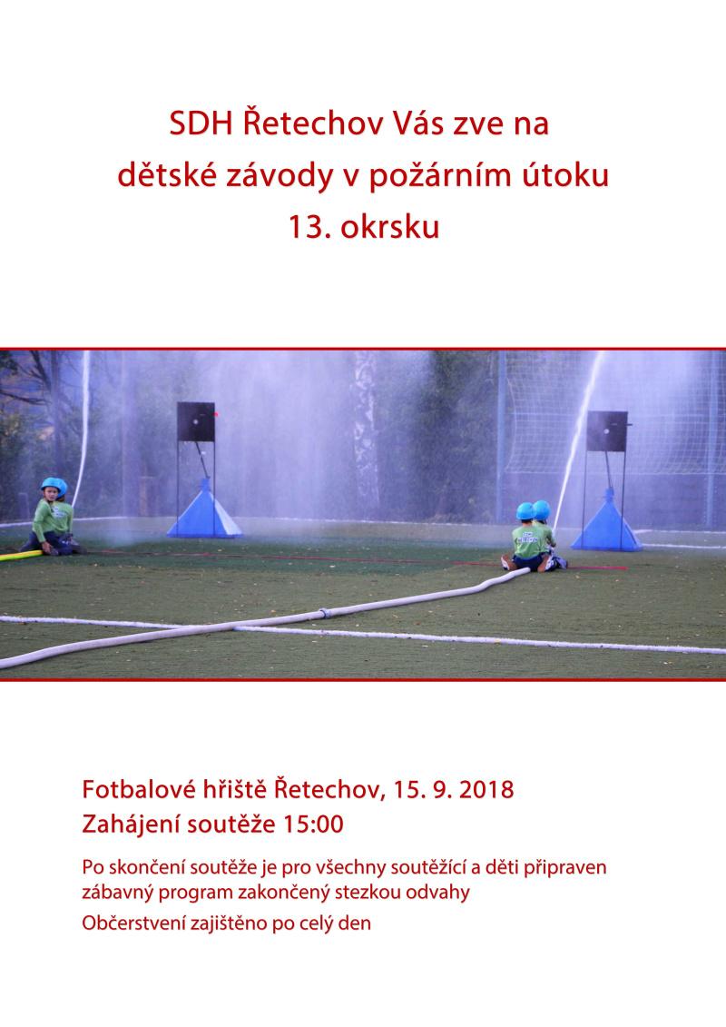 plakát SDH ŘETECHOV