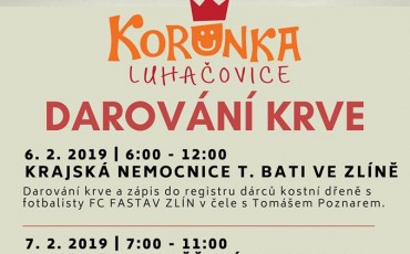Daruj krev s Korunkou Luhačovice 2019